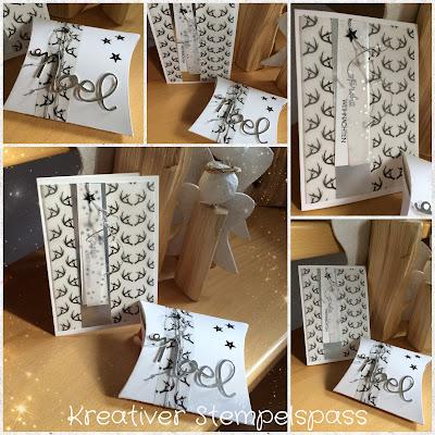 Weihnachtskarte und Pillowbox