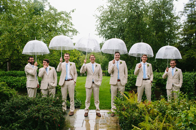Elegant Garden Wedding Groomsmen