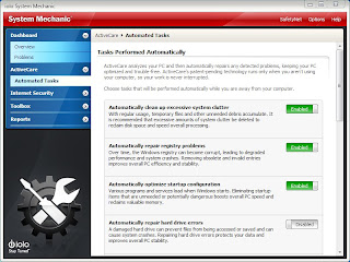 SM std screenshot automated tasks Iolo System Mechanic   Review