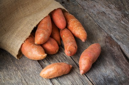 Sack of sweet potatoes