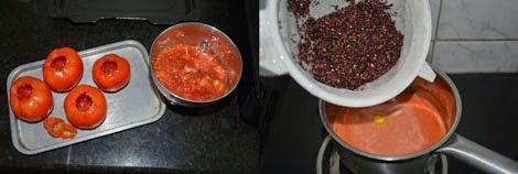 cooking quinoa in tomato juice