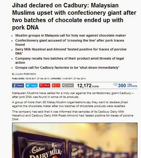jihad on cadbury