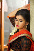 Archana veda in red saree photos-thumbnail-15