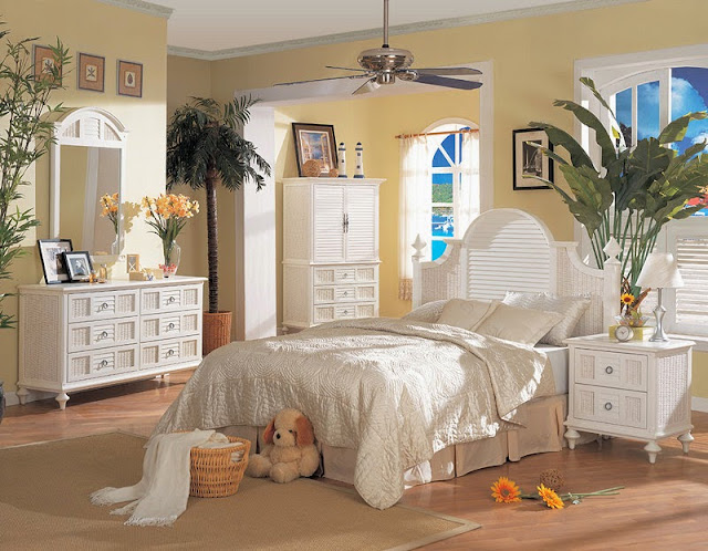 White Wicker Bedroom Furniture Ideas