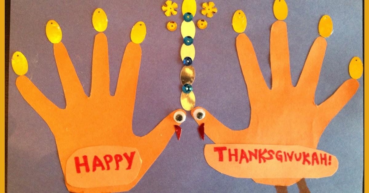 Preschool crafts for kids thanksgiving menorah turkeys craft for Hanukkah crafts for preschoolers