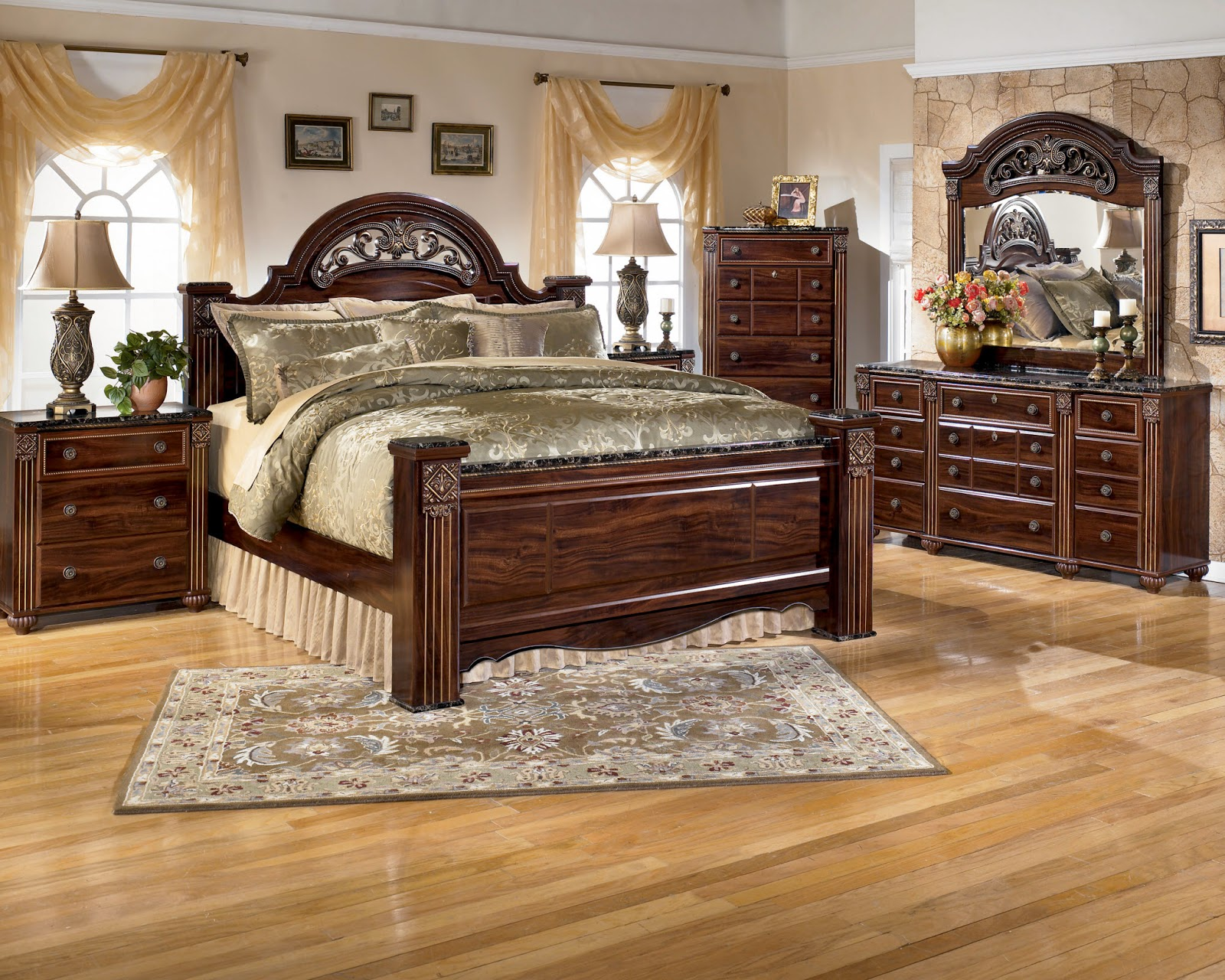 Ashley furniture bedroom sets on sale popular interior for Bedroom set with bed