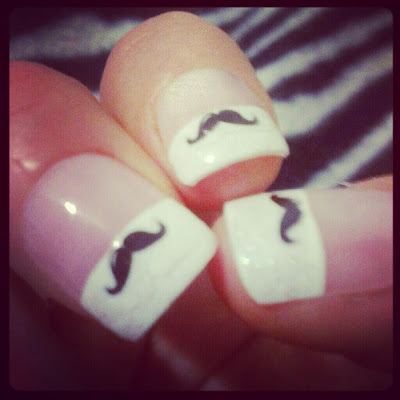 Movember fake nails KatSick 2