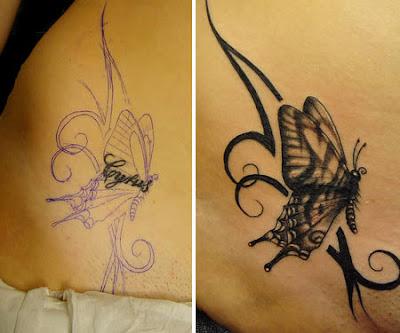Tatuajes de Mariposas en la Espalda