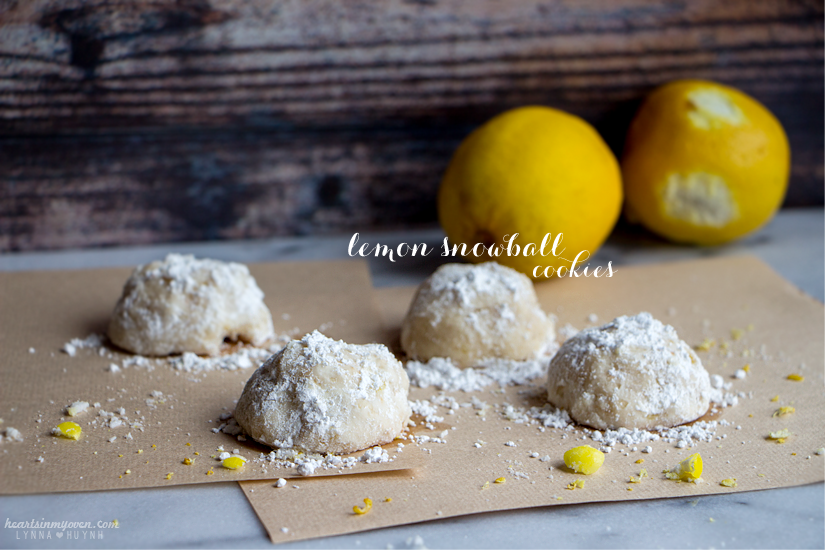 Hearts In My Oven Lemon Snowball Cookies
