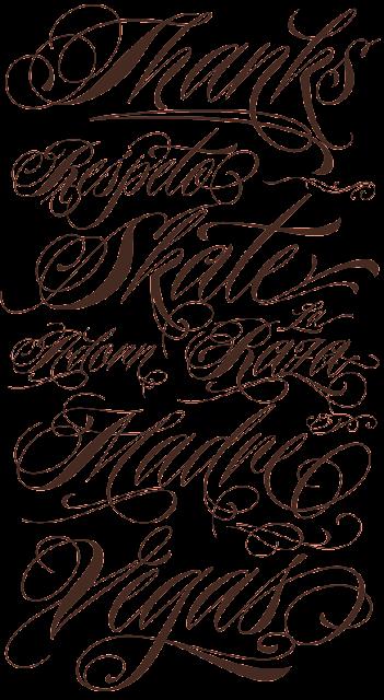 Tattoo fonts character