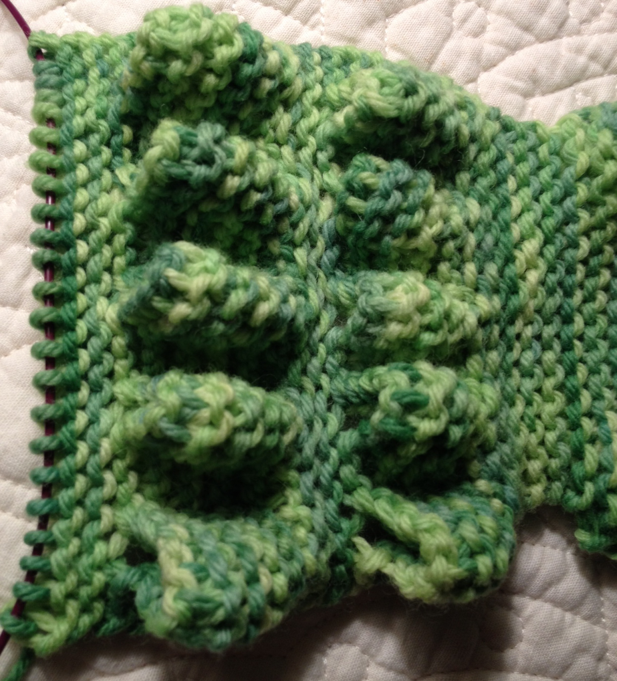 DestiKNITions: Alligator Scarf from Knitting Under the Influence of ...