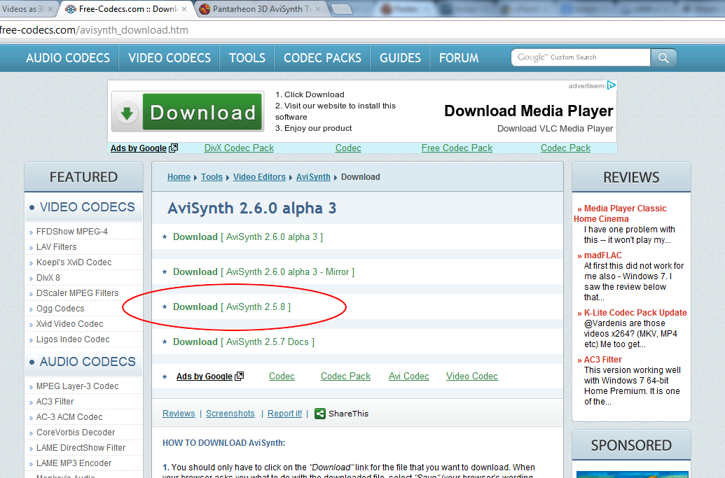 Download Avisynth