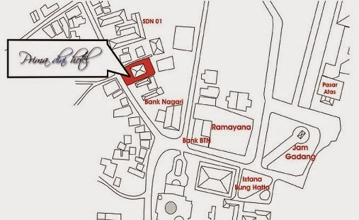 Peta Alamat Prima Dini Hotel  Bukittinggi