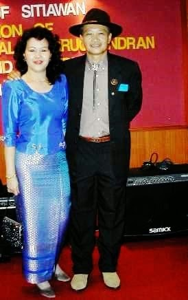 my wife Catherine at Rotary Club Sitiawan