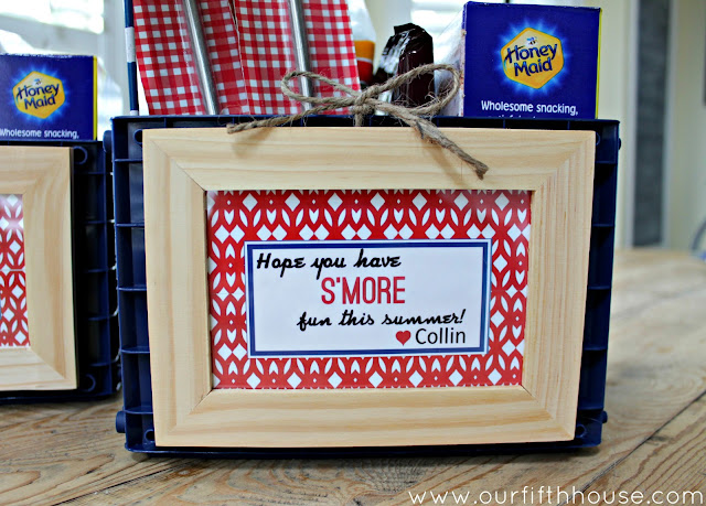 s'more gift basket  - teacher gift idea - Our Fifth House