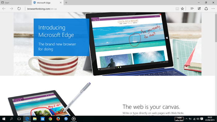 Browser baru WIndows, Mcrosoft Edge