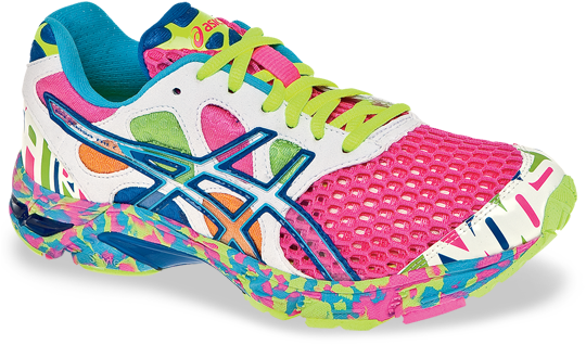 colourful asics trainers