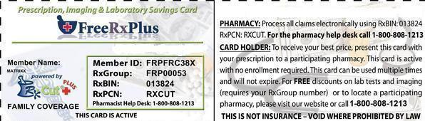 Free Prescription Card 50-75% off