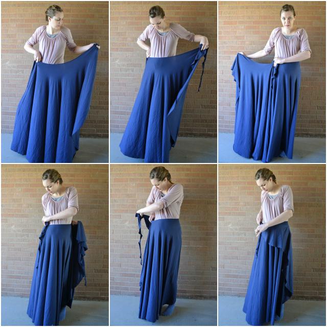 Платье с юбкой годе