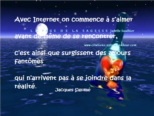 Citation rencontre internet