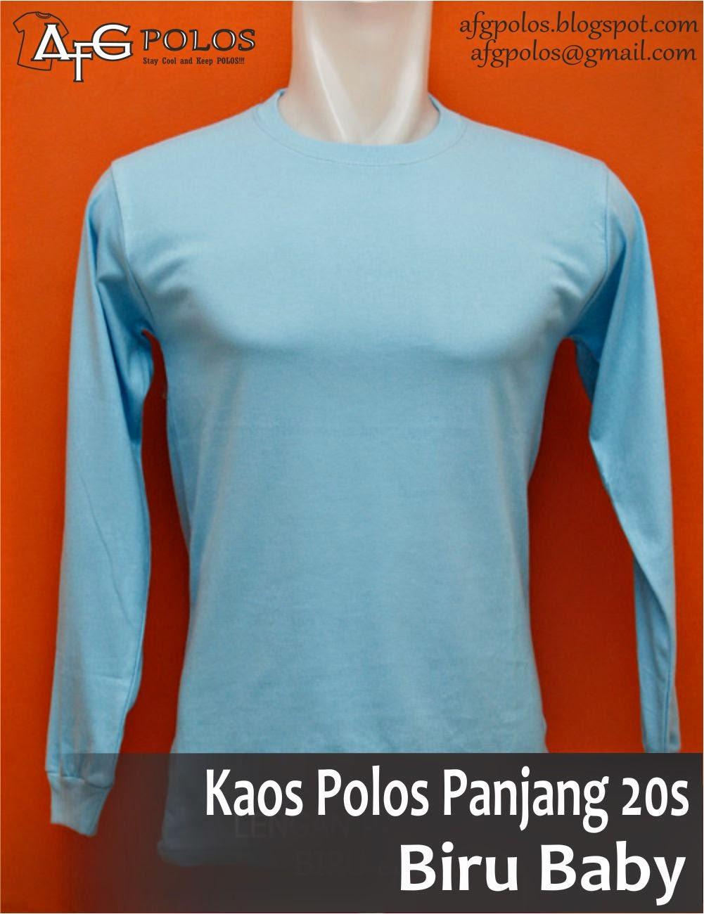 Afg Polos Kaos 20s Lengan Panjang Size L Cotton Combed