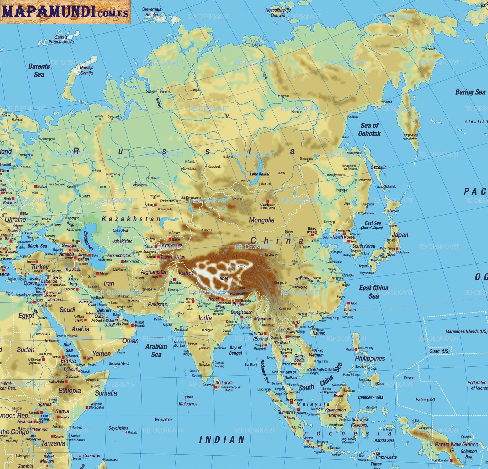 Mapa Mundi De Asia