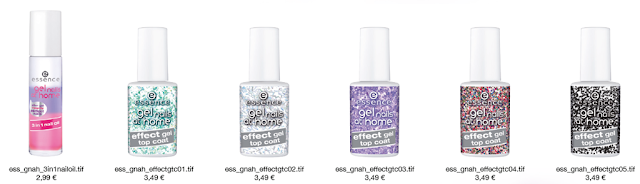 Essence Gel Nails At Home Effect Gel Top Coat e 3in1 Nail Oil