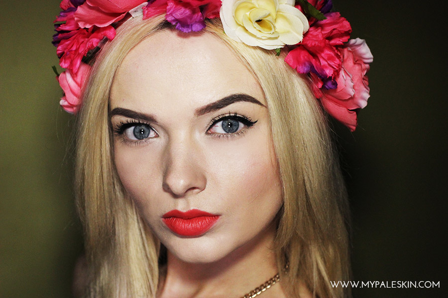 summer make up flower crown my pale skin