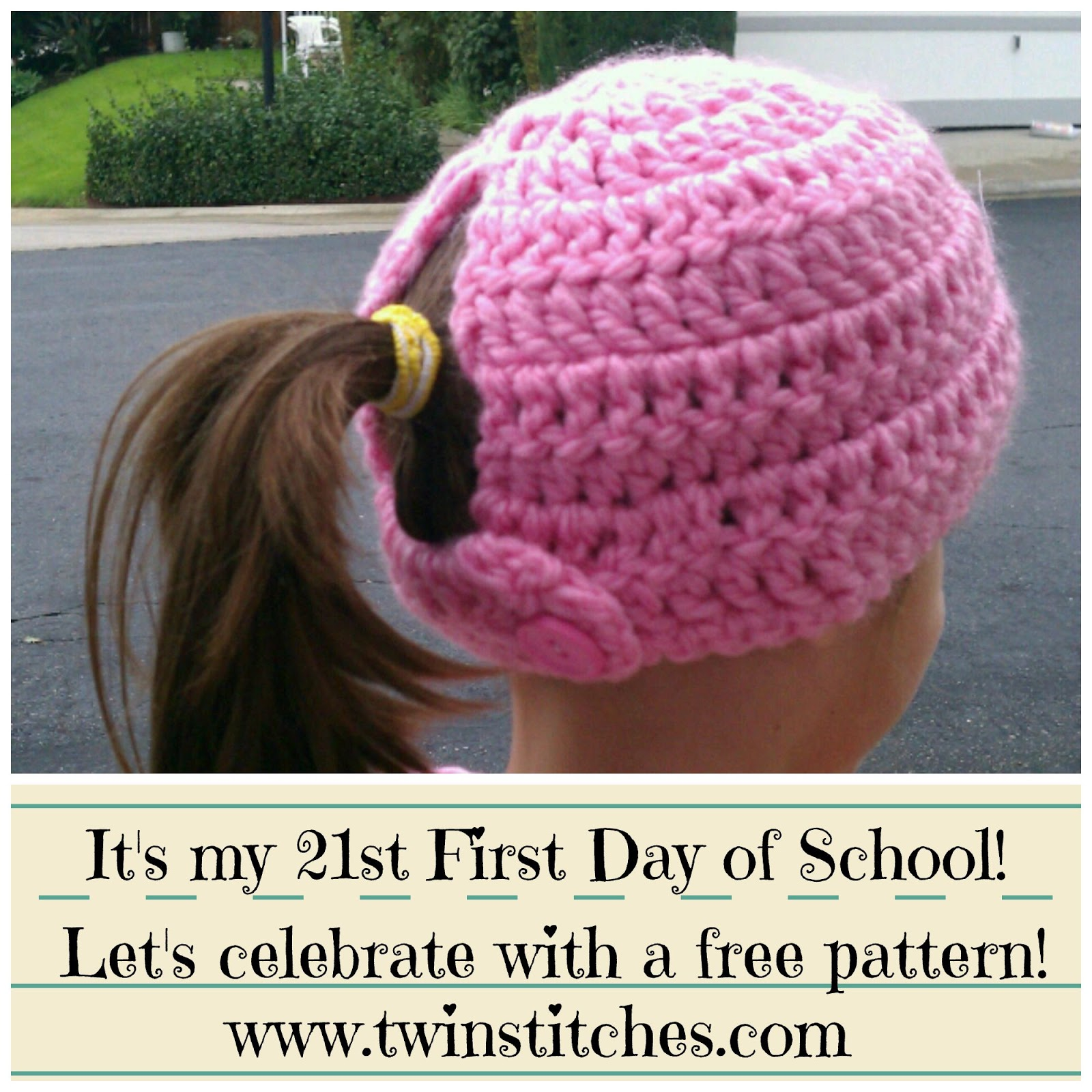 Free Crochet Hat Pattern With Ponytail Hole New Free Crochet