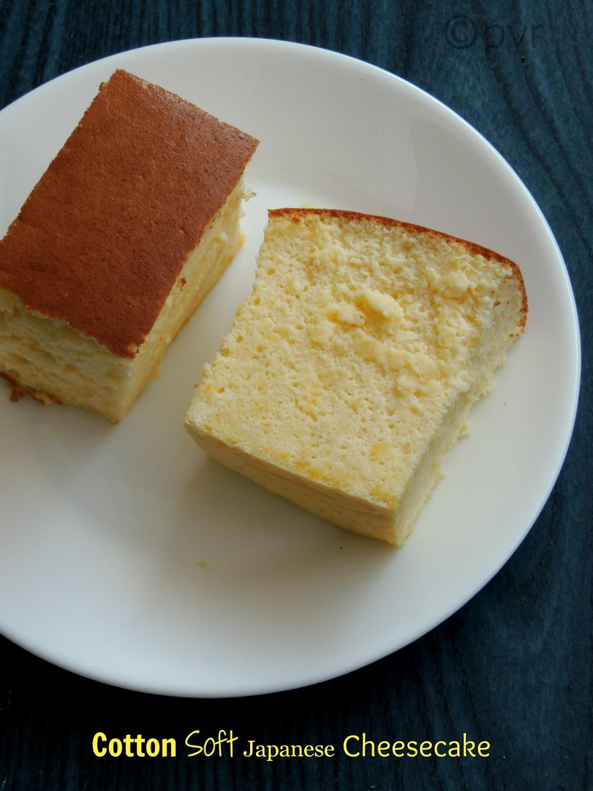 Priya S Versatile Recipes Cotton Soft Japanese Cheesecake