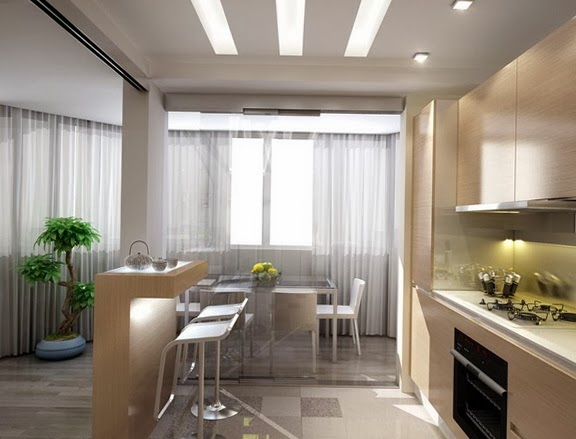 Fotos de cocina y comedor juntos colores en casa for Casa con cocina y comedor juntos