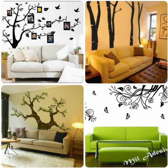Ideas decor for that wall behind the sofa best interior for Behind the couch wall decor