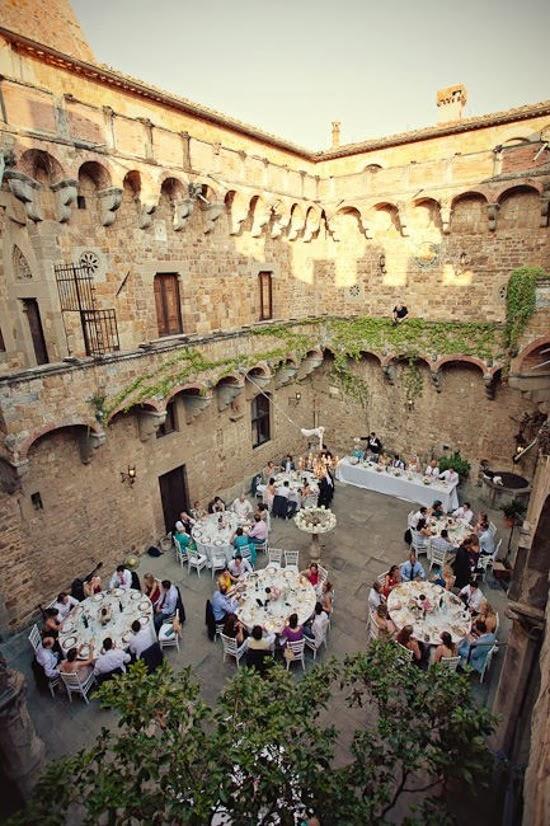 Oh mywedding mesas y espacios for Murales para patios y jardines
