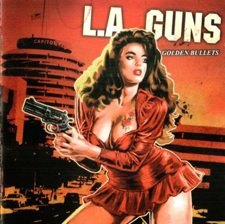 CD Cover girl with pistol art