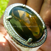 Cincin Batu Permata Green fire Opal - SP733