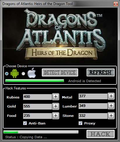 Dragons of Atlantis Game Cheat