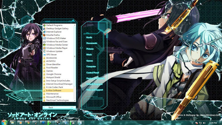 [ Theme Win 7 ] Gun Gale Online 4