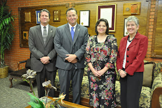 Cirrito (center, left) and Erwin (center right) are joined by CMIT Executive Director Doug Dretke and TCCJ Human Resources Director Jan Thornton (r).