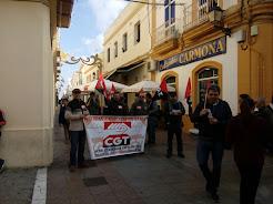 Crónica participación de CTA en convocatoria de CGT ante el Banco Sabadell de Puerto Real