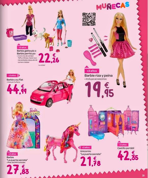 muñecas barbie de navidad 2014 carrefour