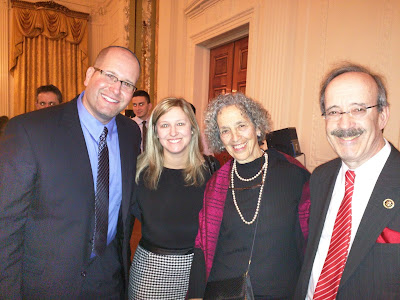 Rabbi Jason & Elissa Miller, Ruth Messinger of AJWS and Rep. Eliot Engel
