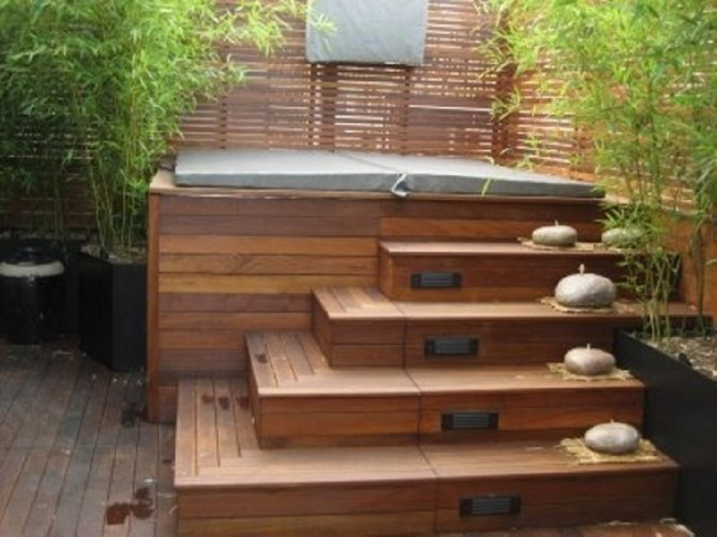 33 ideas de dise o con jacuzzi maravillosas decoraci n - Jacuzzi aire libre ...