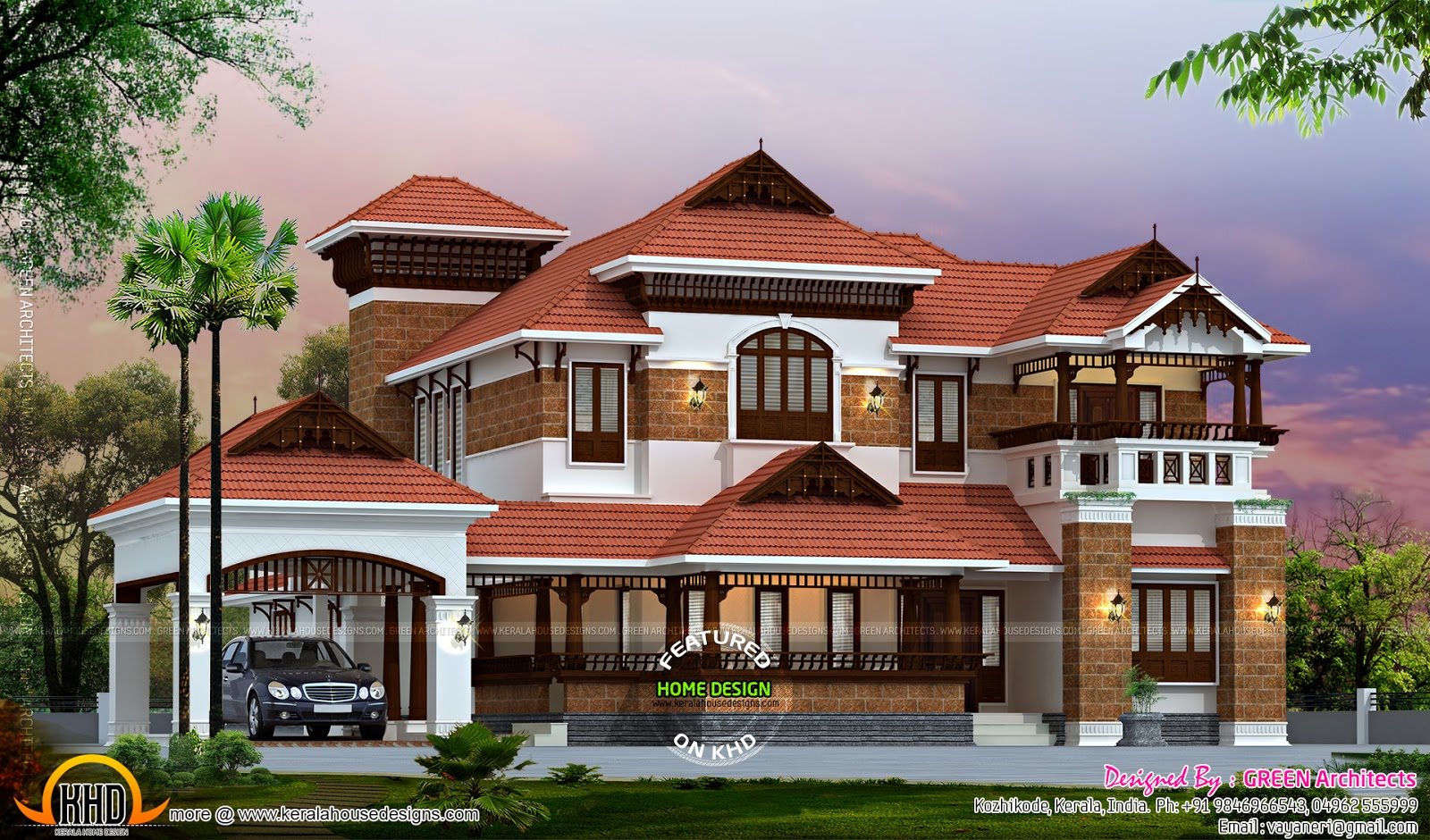 Nalukettu traditional home kerala home design and floor for Luxury traditional homes
