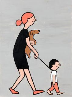 """Un día mi hija me dijo  """"Así como perro"""""""