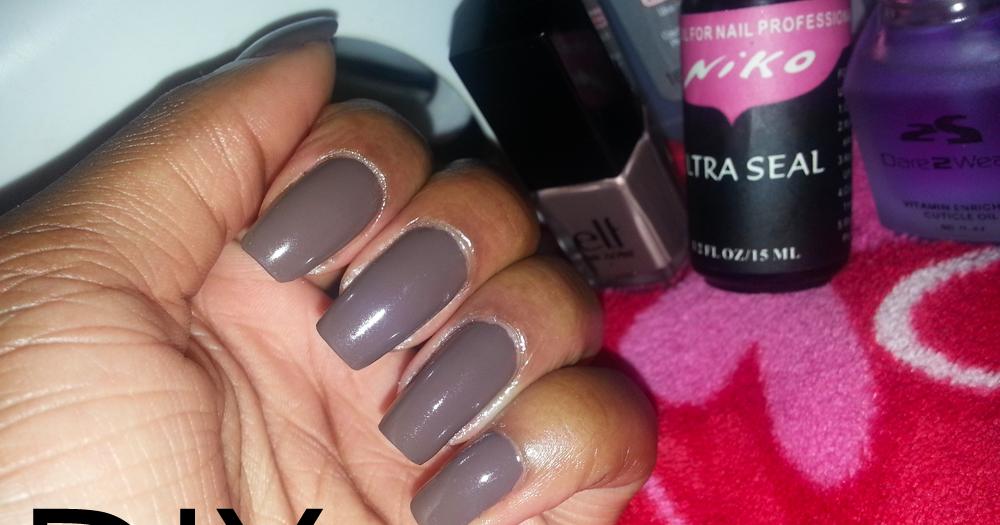 DIY Gel Manicure Fall Series Pt.1| Smoky Brown Beauté ...