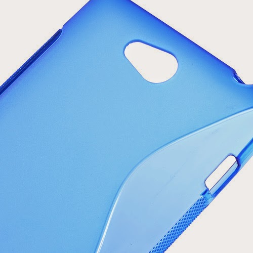 S-Curve Soft TPU Jelly Case for Sony Xperia C C2305 S39h - Blue