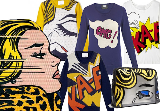 phillip lim, roy lichtenstein,ka-pow jumper,phillip lim bag