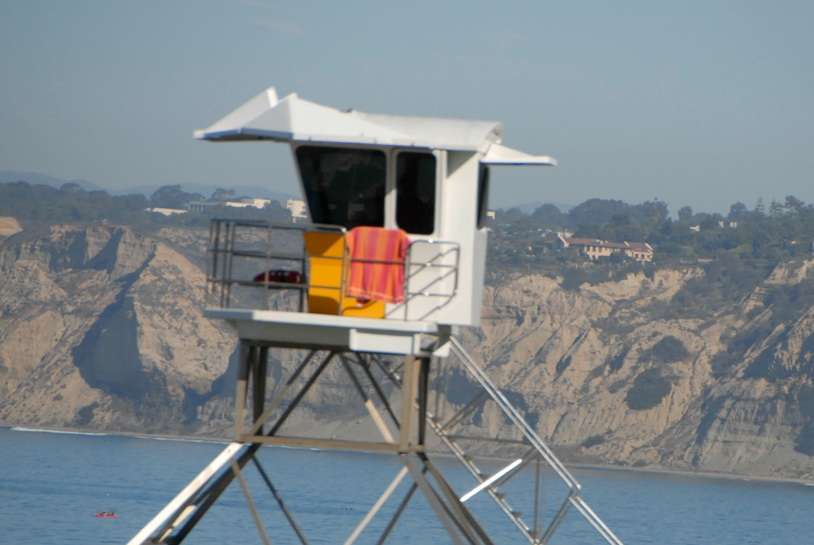 life guard tower at La Jolla Cove