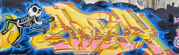 Graffiti de Atila en Terrassa