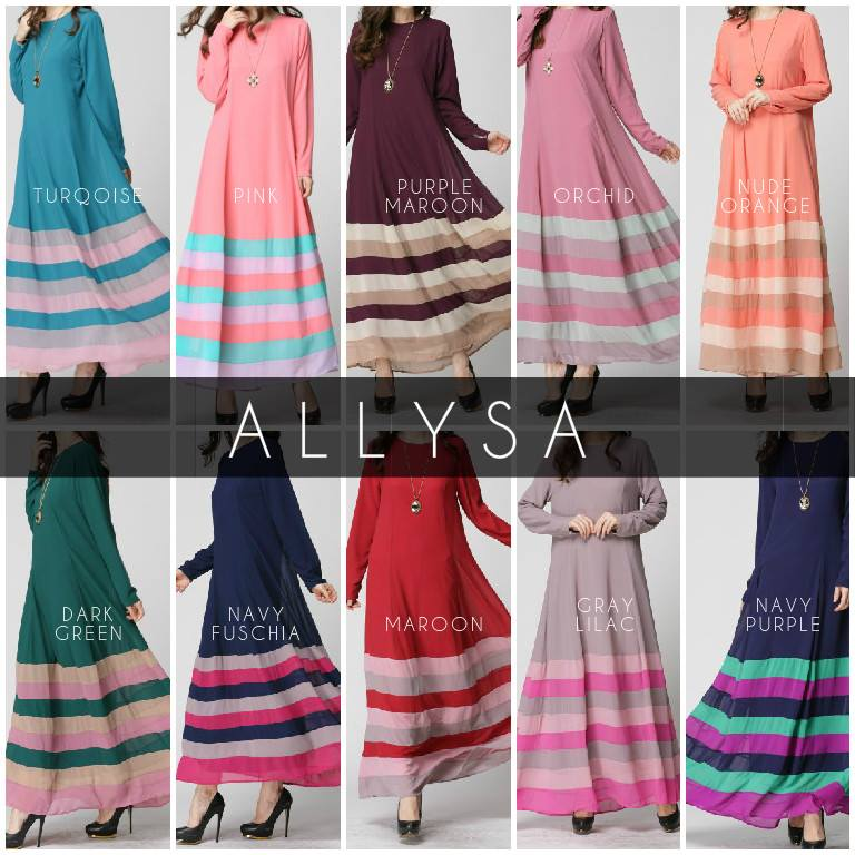 Color Block Jubah